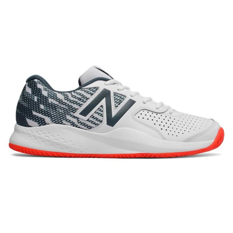 65f491a204473 New Balance MCH696E3 Mens Tennis Shoes White/Grey/Orange – Rackets ...