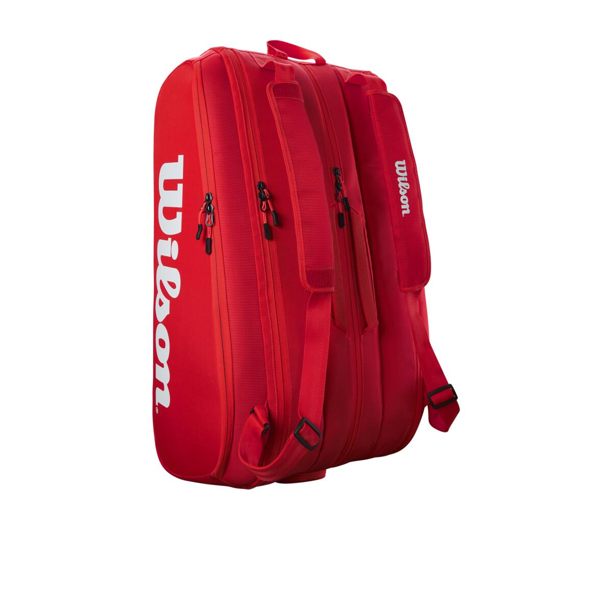 Wilson Super Tour 15 Pack Tennis Bag Red/White 2021