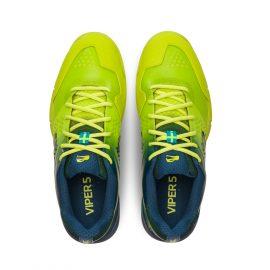 Salming Hawk 2 Squash Shoe – Lime/Punch Blue