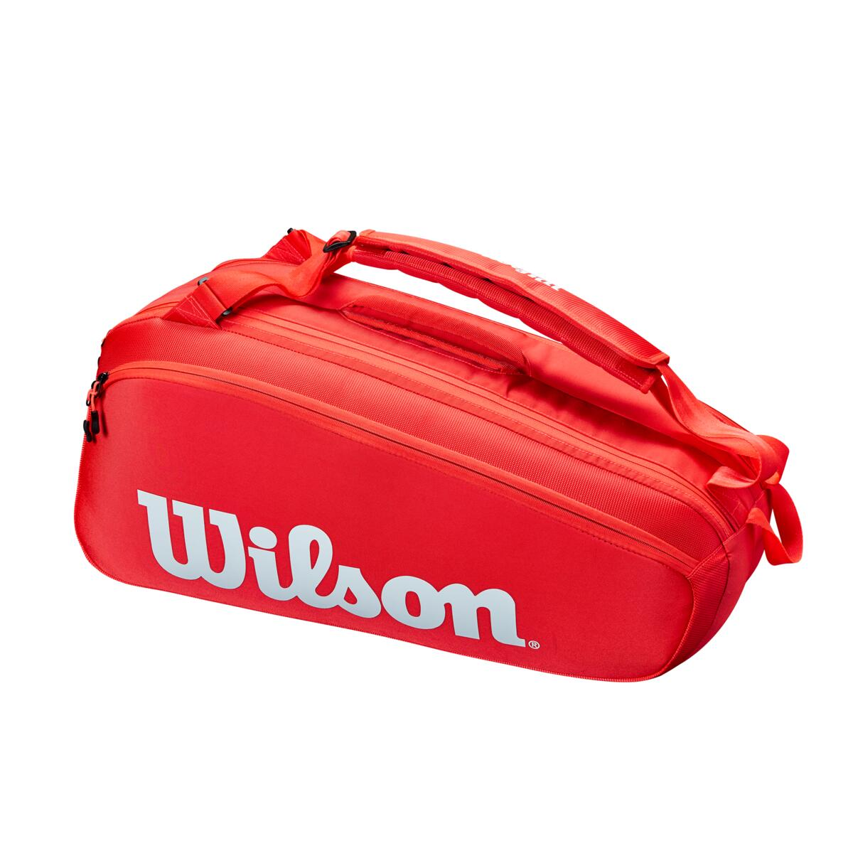 Wilson Super Tour 6 Pack Tennis Bag Red/White 2021