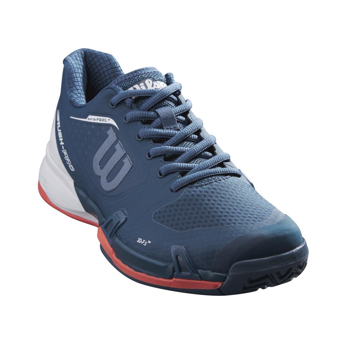 Wilson Rush Pro 2.5 Womens Tennis Shoe – Majolica Blue/White/Hot Coral