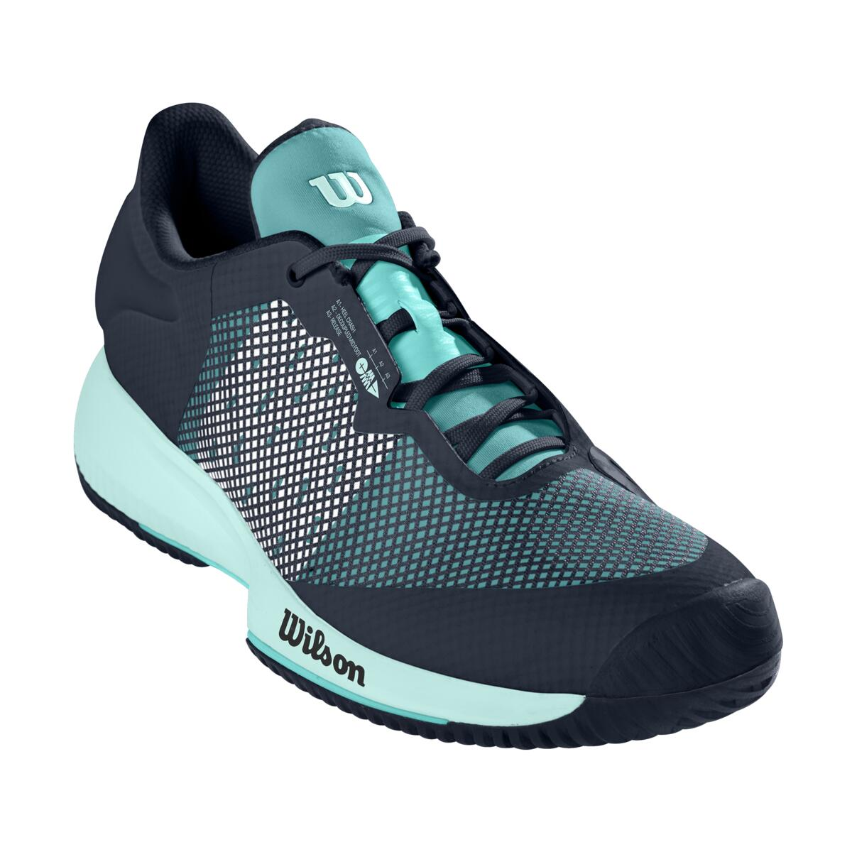 Wilson Kaos Swift Womens Tennis Shoe – Outer Space/Aruba Blue/Soothing Sea