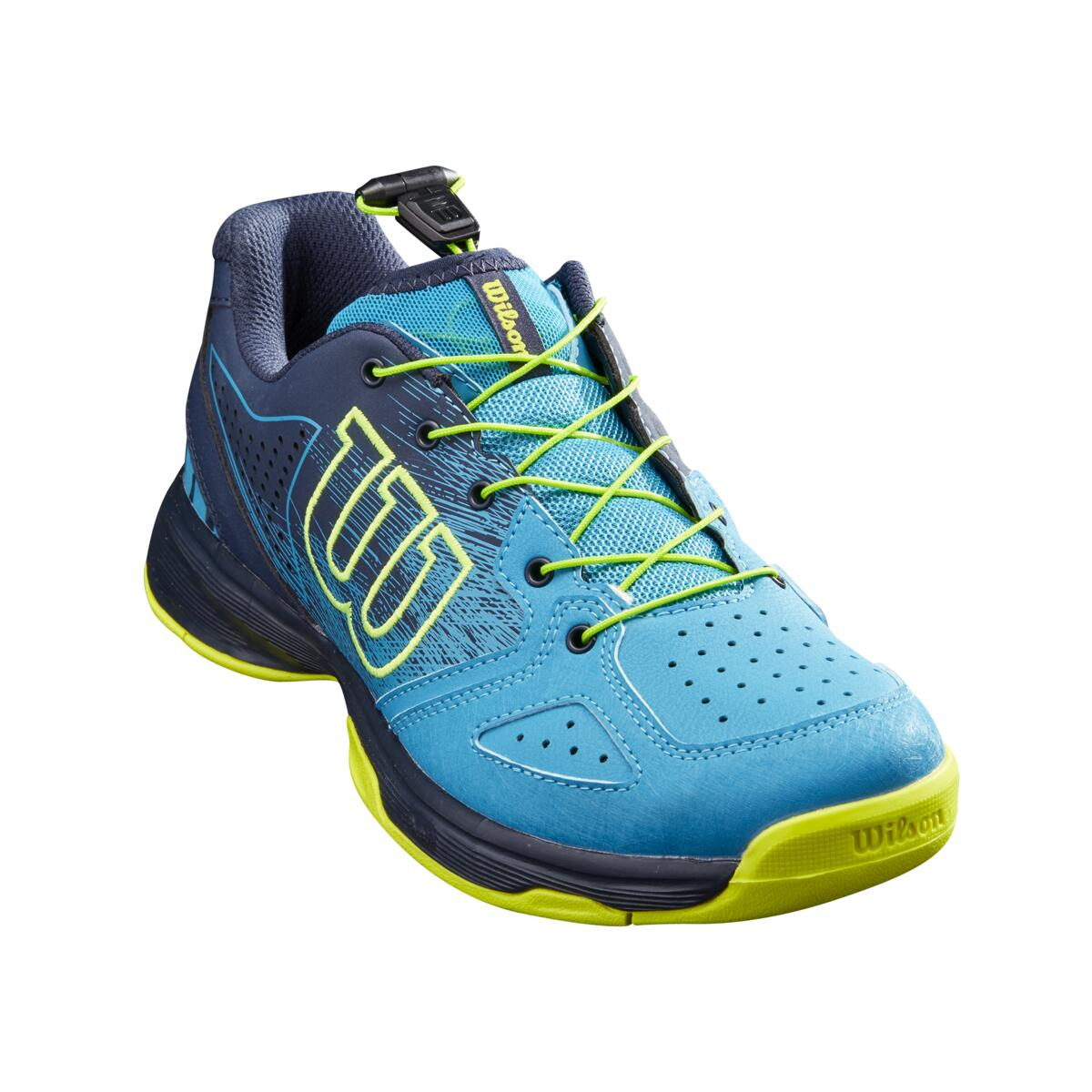 Wilson Kaos QL Junior Tennis Shoe – Barrier Reef/Navy Blazer/Lime Popsicle