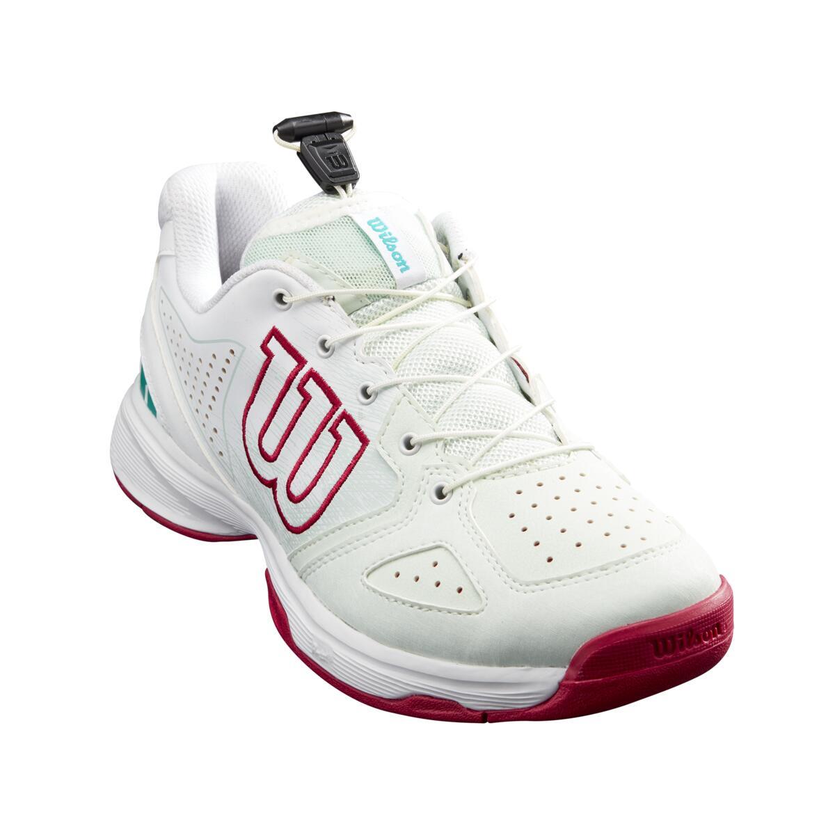 Wilson Kaos QL Junior Tennis Shoe – Soothing Sea/White/Sangria
