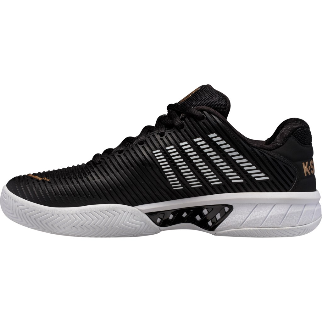 K-Swiss Hypercourt Express 2 Mens Tennis Shoes – Black/Gold/White