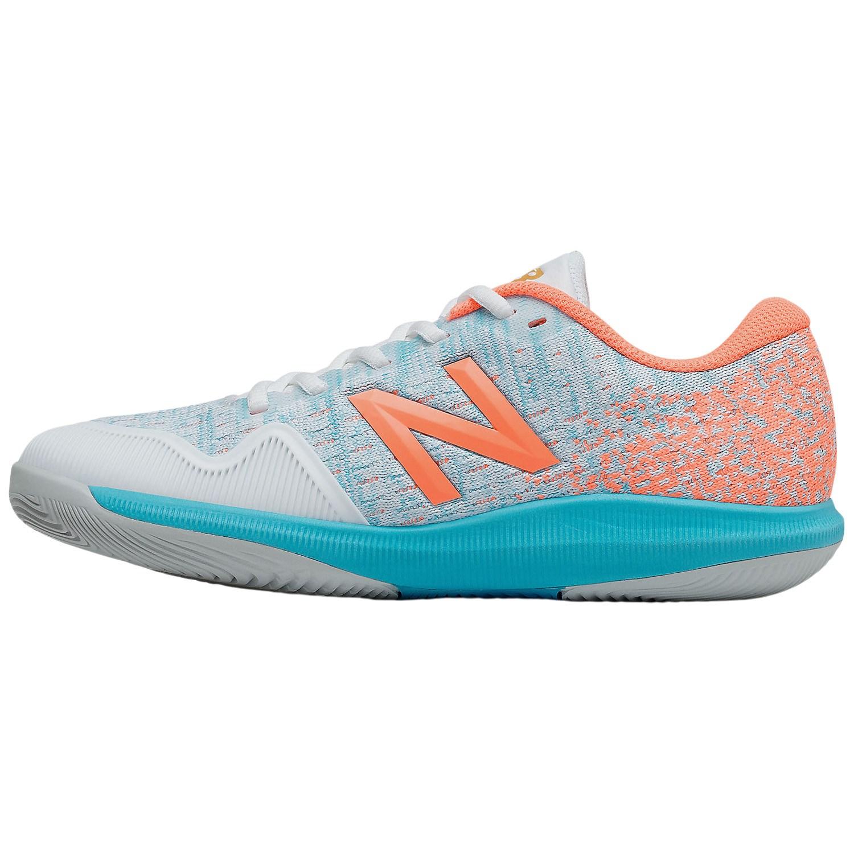 New Balance 996v4 Womens Tennis Shoes – White/Citrus