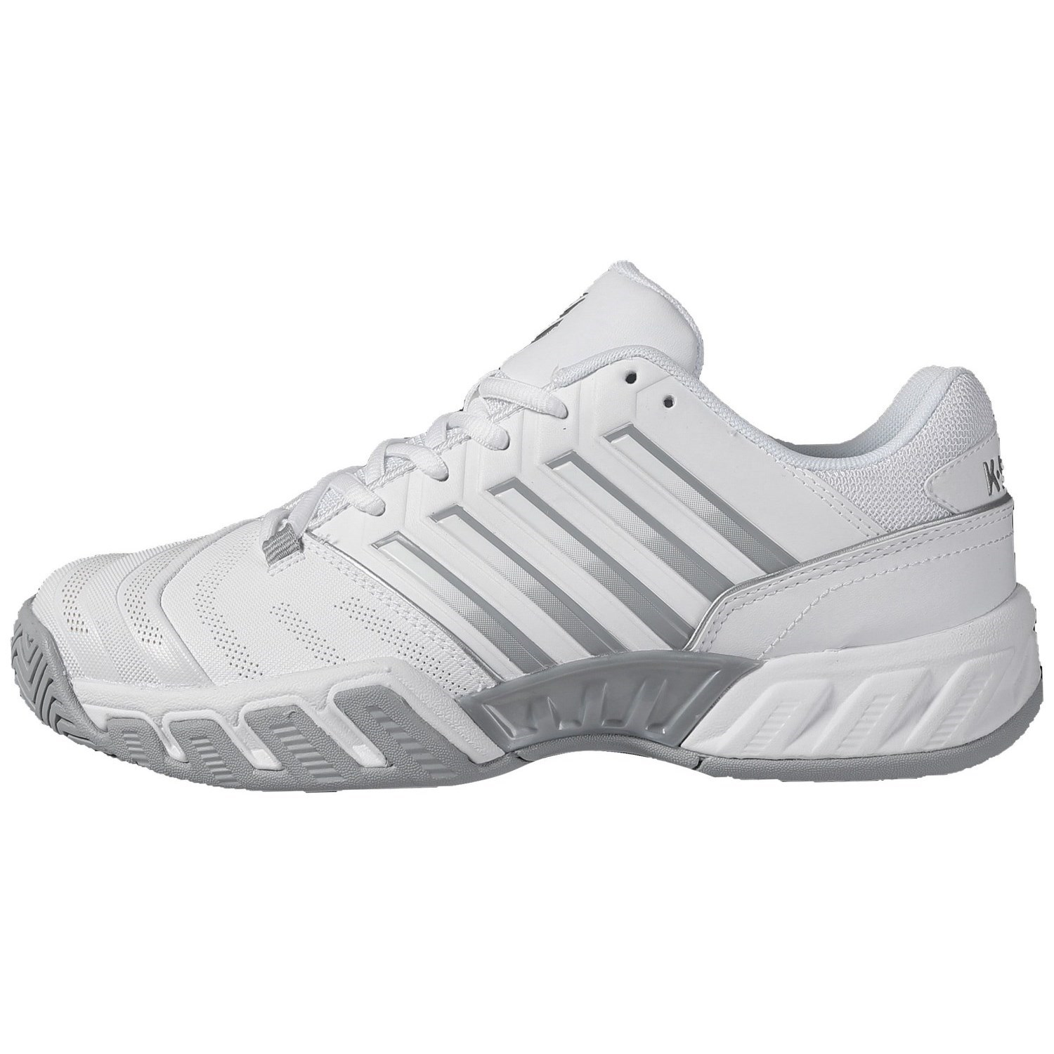 K-Swiss Bigshot Light 4 Womens Tennis Shoes – White/High-Rise/Silver