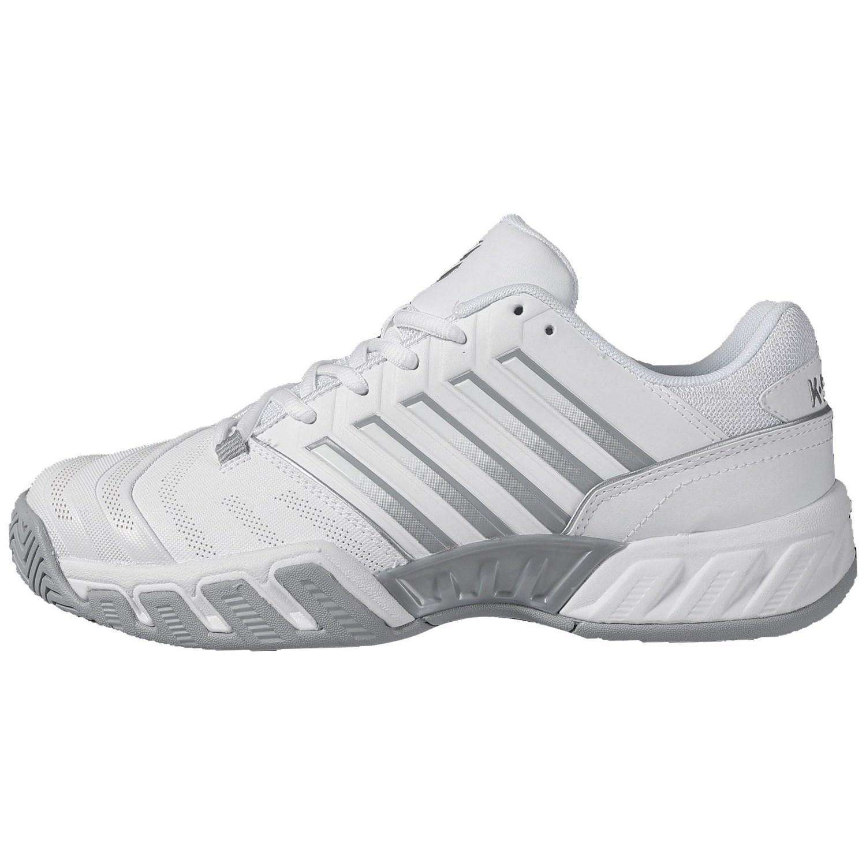 K-Swiss Bigshot Light 4 Womens Tennis Shoes – White/High-Rise/Silver