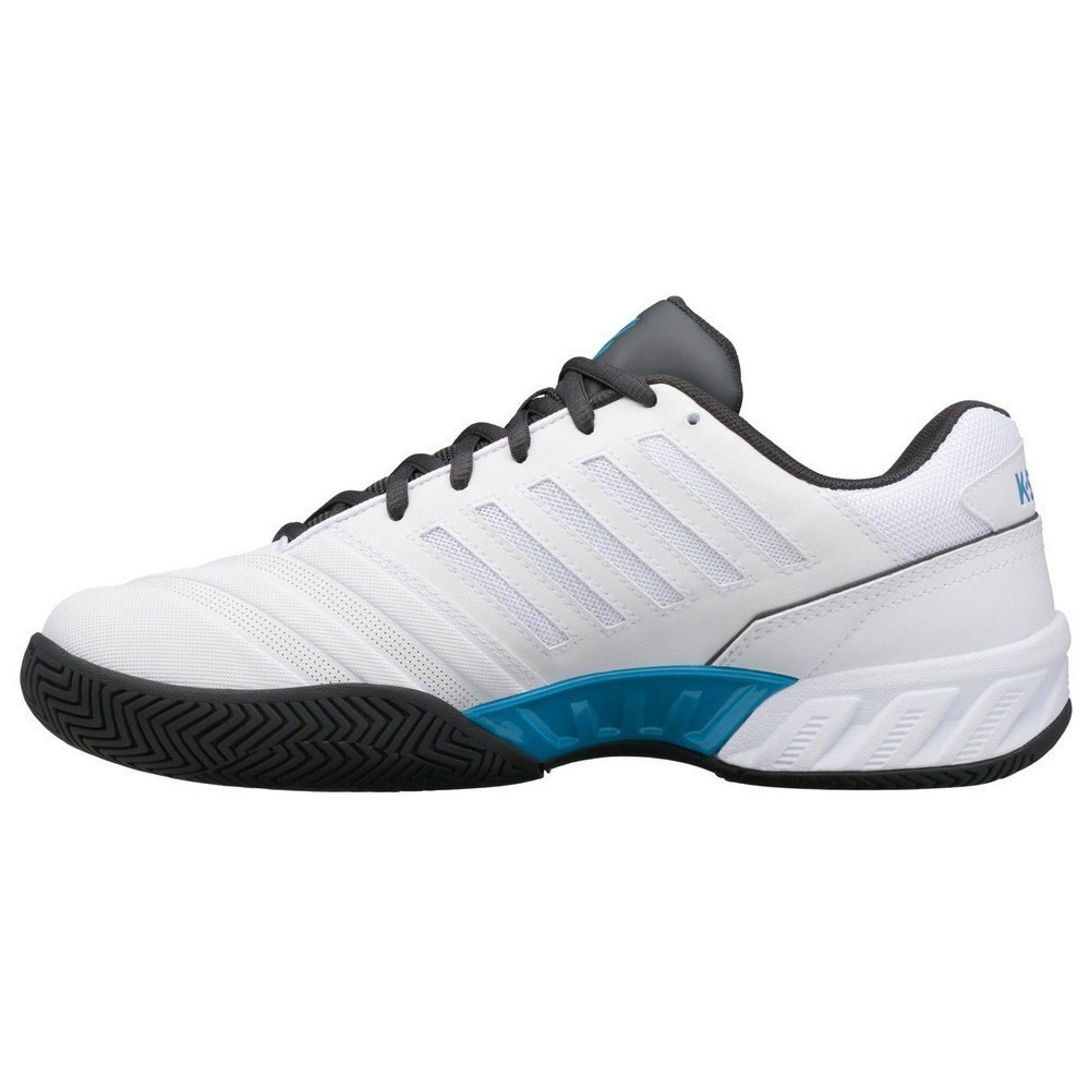 K-Swiss Bigshot Light 4 Mens Tennis Shoes – White/Dark Shadow/Swedish Blue