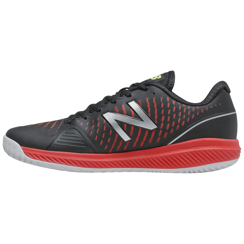 New Balance MCH796v2 Men's Tennis Shoe – Black/Velocity Red