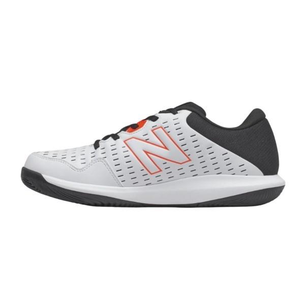 New Balance MCH696v4 Men's Tennis Shoe – White/Black/Orange