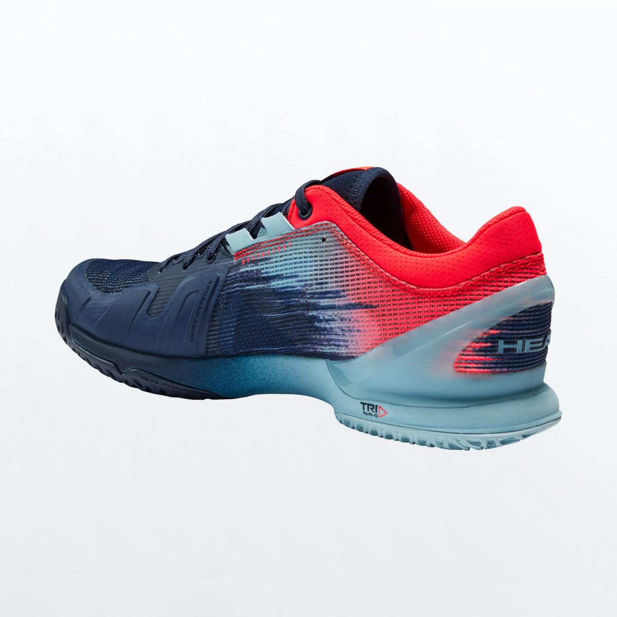 Head Sprint Pro 3.0 Mens Tennis Shoes – Dress Blue/Neon Red