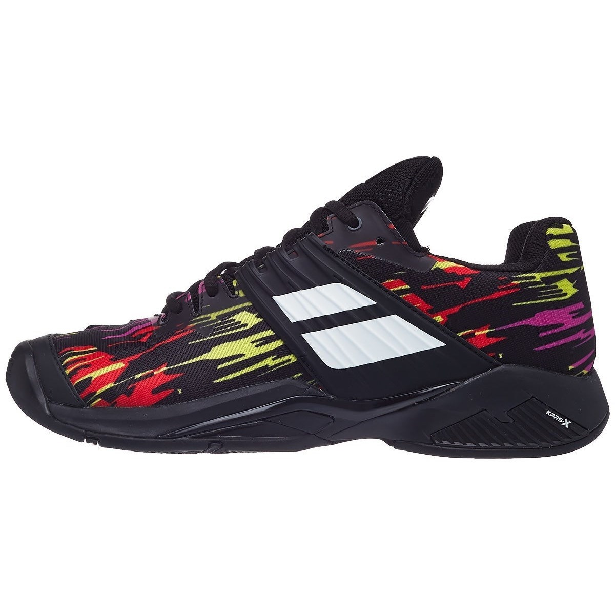 Babolat Propulse Fury AC Mens Tennis Shoes- Black/White/Red/Yellow