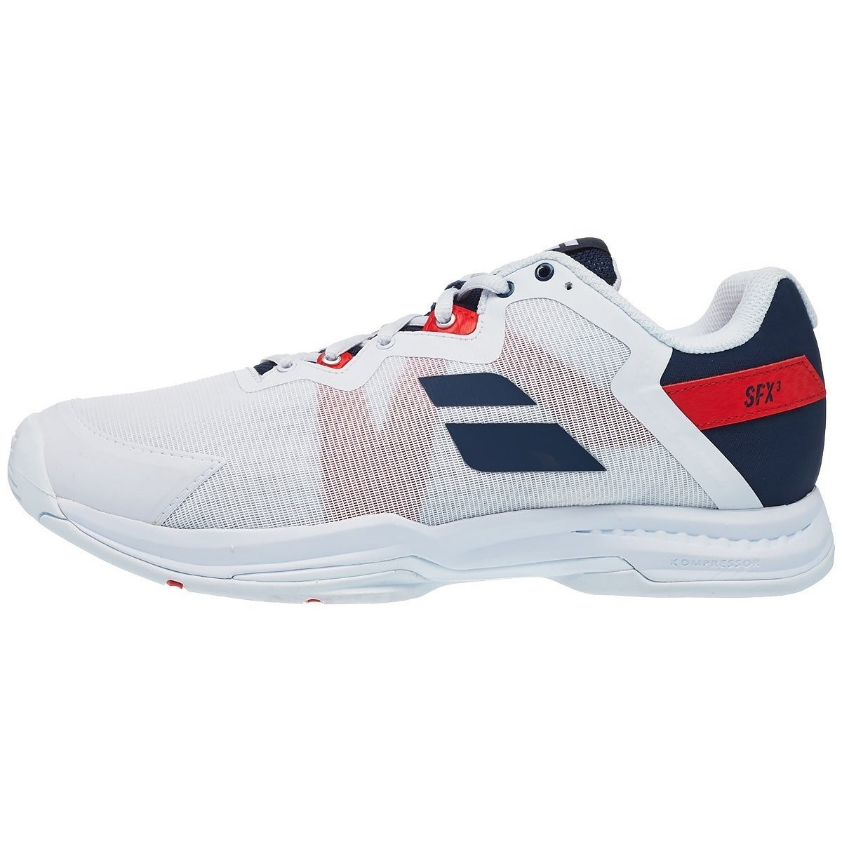 Babolat SFX3 All Court Mens Tennis Shoe – White/Red/Navy