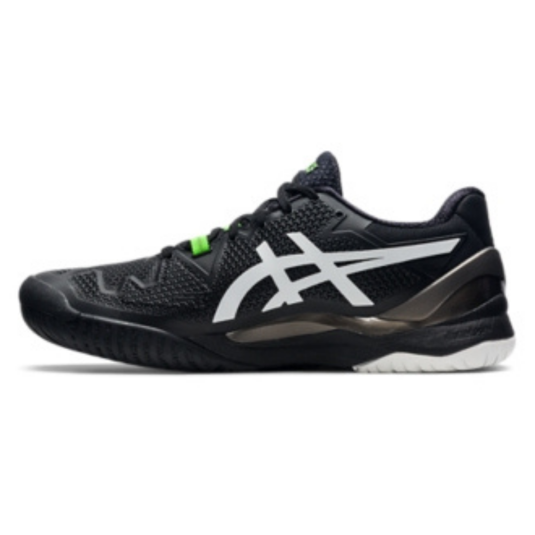 ASICS Gel-Resolution 8 Men's Tennis Shoe – Black/Gecko Green