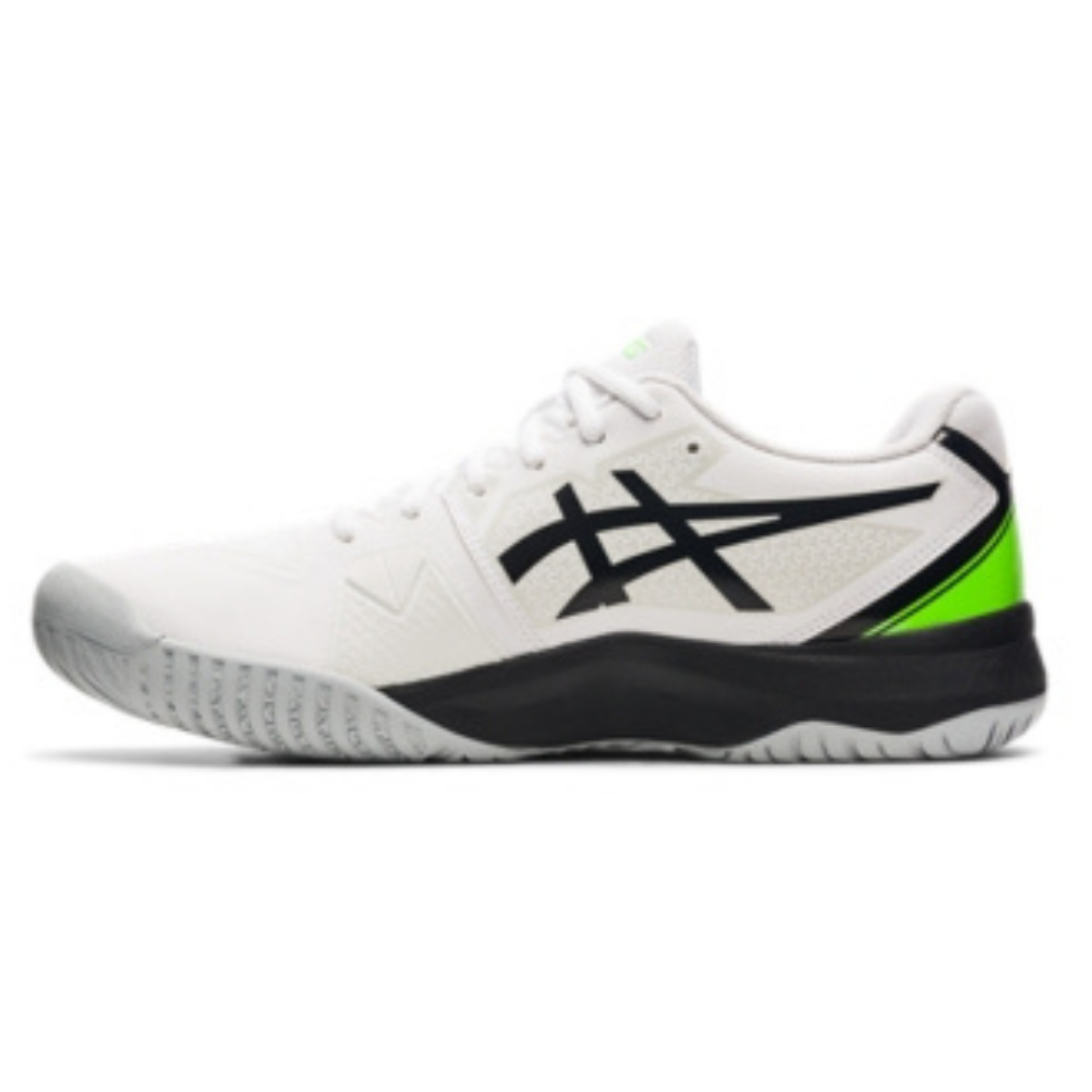 ASICS Gel-Challenge 13 Men's Tennis Shoe – White/Gecko Green