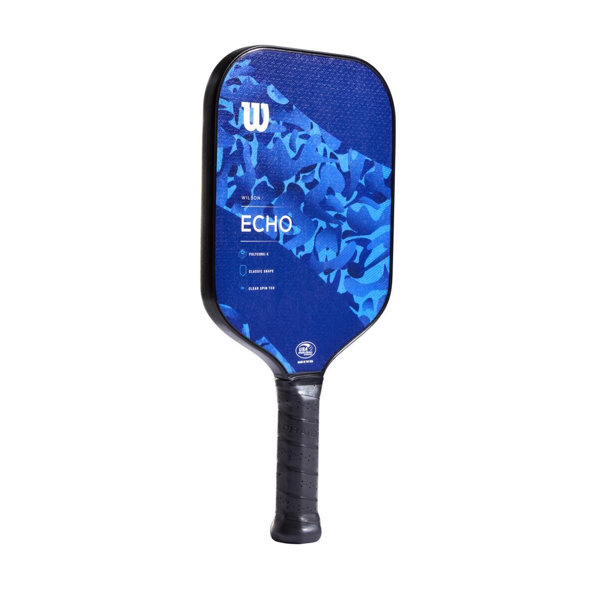 Wilson Echo Camo Pickleball Paddle – Blue